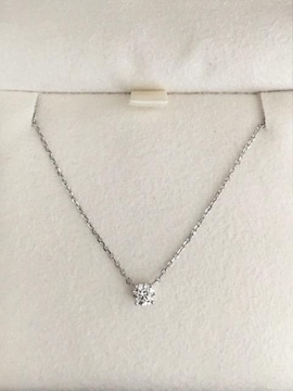 4℃ ダイヤモンド ネックレス Pt850 0.173ct H SI-2 鑑定カード
