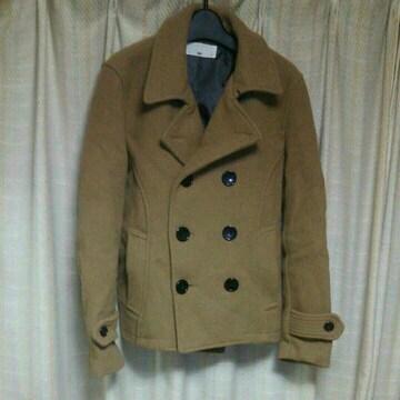 ハレHAREショート丈PコートSサイズベージュきれいめアメカジ小さいサイズジャケット中古