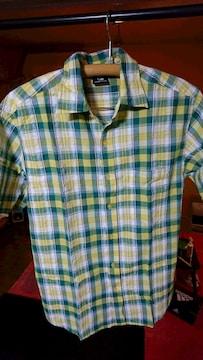 チェック柄  半袖シャツ  M