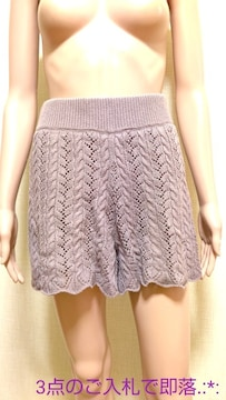 ☆HEATHER☆綺麗なかぎ編みニットのキュロットB264☆3点で即落