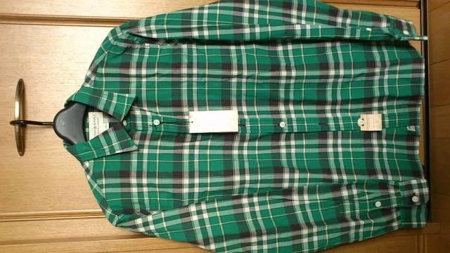 激安76%オフラルフローレン、Polo、長袖シャツ(新品タグ、緑×黒、M) < ブランドの