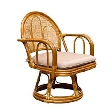 ラタン 回転座椅子 ミドルタイプ IM-14HN ハニー