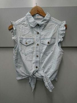 LIZ LISA☆ダンガリーノースリーブシャツ