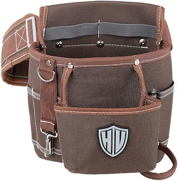 HV 2段タイプ腰袋 13x24x26CM ベルト付き 工具バッグ