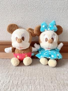 ディズニー ミッキー&ミニー お座りぬいぐるみ 2体セット