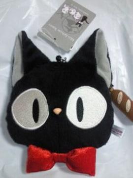 スタジオジブリ 魔女の宅急便 黒猫 ジジ フェイス 財布 パスケース リール