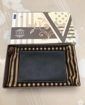 D055 未使用品★VIERA ヴィエラ メンズ 財布 袋付き 元箱付き
