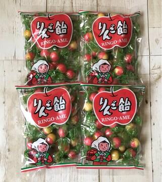北海道限定 りんご飴 4袋セット 飴谷製菓 懐かし飴 あめ アメ