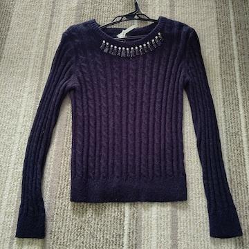 ジルスチュアート ニット セーター 美品 ブラック