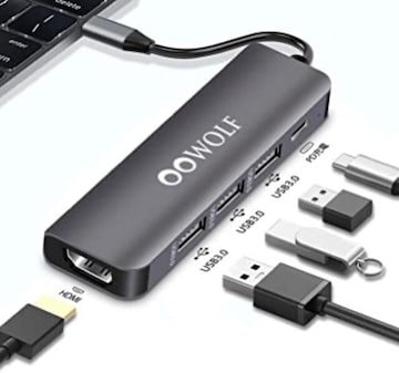 USB C ハブ5in1 Type C 超小型 4K HDMI 100W出力