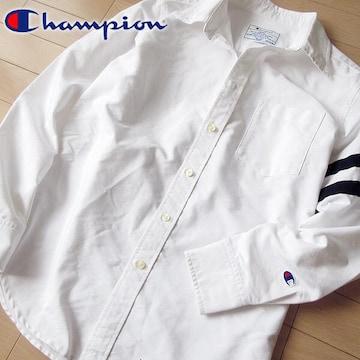 美品 M チャンピオン メンズ 長袖シャツ ホワイト