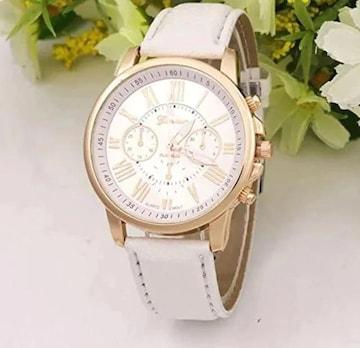 再入荷690円★ベストセラー お洒落な腕時計白 初期不良保証