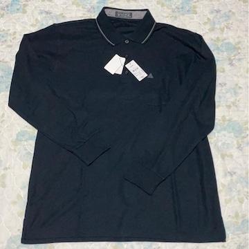 黒長袖ポロシャツL L