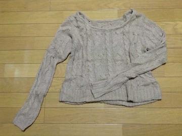 LE SOUK(ルスーク)ケーブル編みニット美品