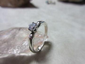 Silver925 純銀指輪 CZ     11号    n147