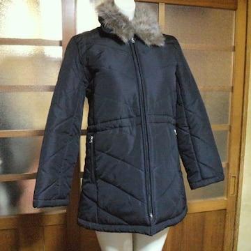 pure natureボア付き中綿ジャンパー