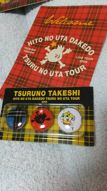 つるの剛士LIVE TOUR 2009 缶バッジイエロー  < タレントグッズの