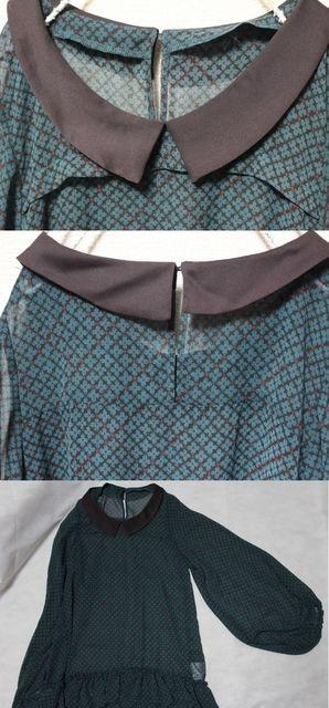 ブロードゥリー&コー*Broderie&Co〓ボリューム袖*裾フリルシフォンチュニック〓used < ブランドの