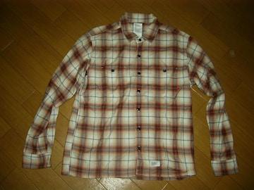 ダブルタップスWTAPSチェックシャツM赤系