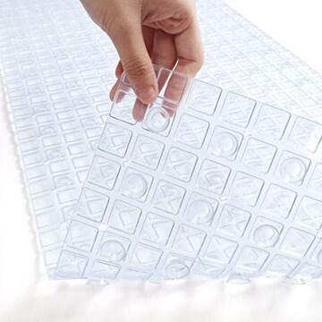 透明 バスマット お風呂マット 滑り止め 転倒防止 速乾 介護用品