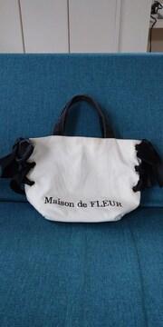 Maison  de FLEUR メゾンドフルール リボン トートバッグ