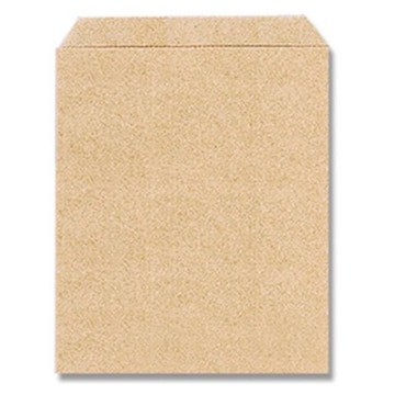 〈ミザラシムジ〉未晒クラフト無地茶平袋(40枚)葉書サイズ