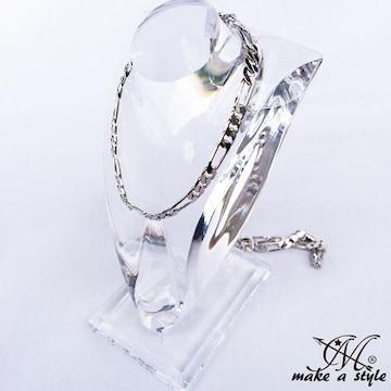 フィガロ チェーン 銀 シルバー SILVER ネックレス セレブ 582