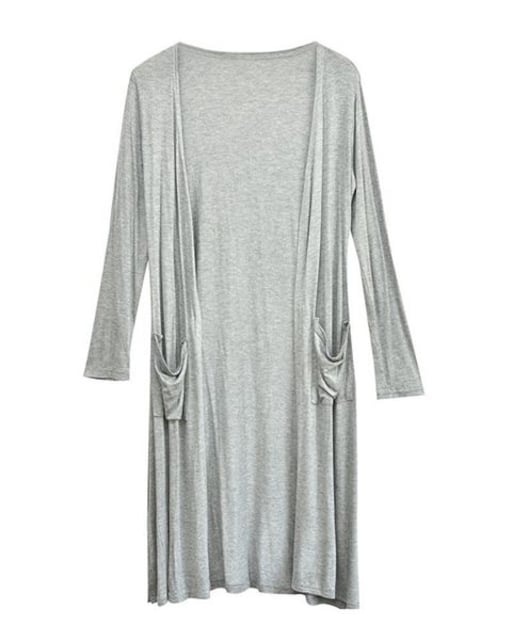 UVカット★ロングカーディガン(薄グレー.フリーサイズ) < 女性ファッションの
