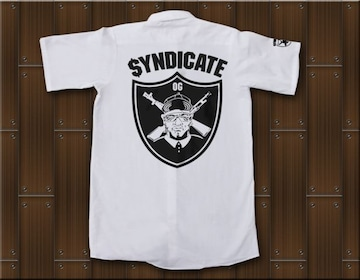 SYNDICATE★ワークシャツ・ギャングスタ★XL★白★新品