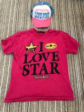ピンク インナー Tシャツ キャップ セット Love STAR