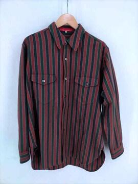 Y\s for men(ワイズ フォー メン)90S 赤タグ ストライプウールシャツシャツ