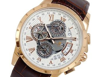 サルバトーレマーラ クオーツ  腕時計SM13119S-PGWH