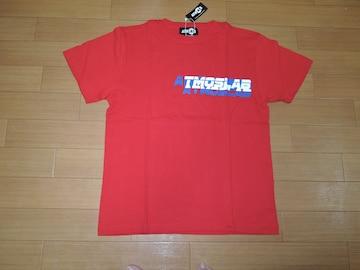 新品 アトモス ATMOS LAB Tシャツ L赤カットソー ダブルロゴTEE