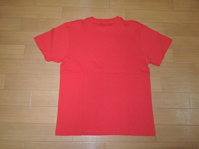 新品 アトモス ATMOS LAB Tシャツ L赤カットソー ダブルロゴTEE < ブランドの