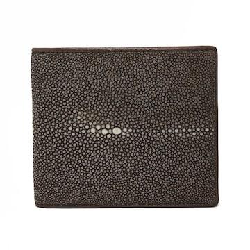 スティングレイ ポリッシュ 二つ折り短財布 SJSK-E1563-BR