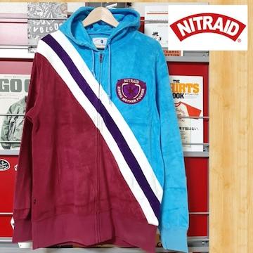 NITRAID ナイトレイド パイル地 パーカー 日本製 ナイトロウ L