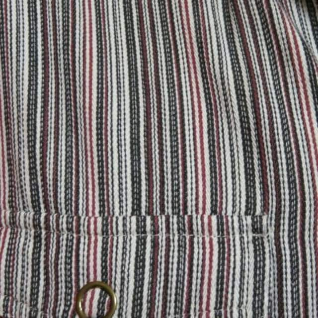 ストライプ柄ジップシャツジャケット/10/L < 男性ファッションの