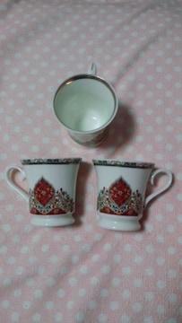 CARLO PALAZZI☆カップ&皿セット☆3個☆中古品