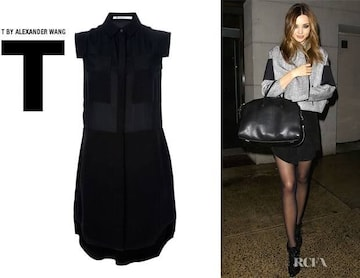 T BY ALEXANDER WANG☆黒シャツワンピース