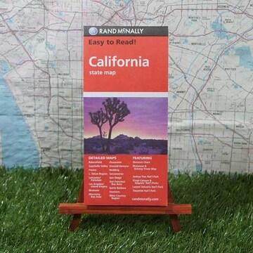 新品【輸入地図】California/カリフォルニア州 State Map