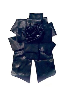 ★新品★ヘッドドレス&ブローチ2wayサテン.コサージュ