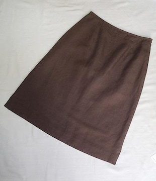 ◆PASSILIA /麻入り 台形スカート 上品丈/サイズ38