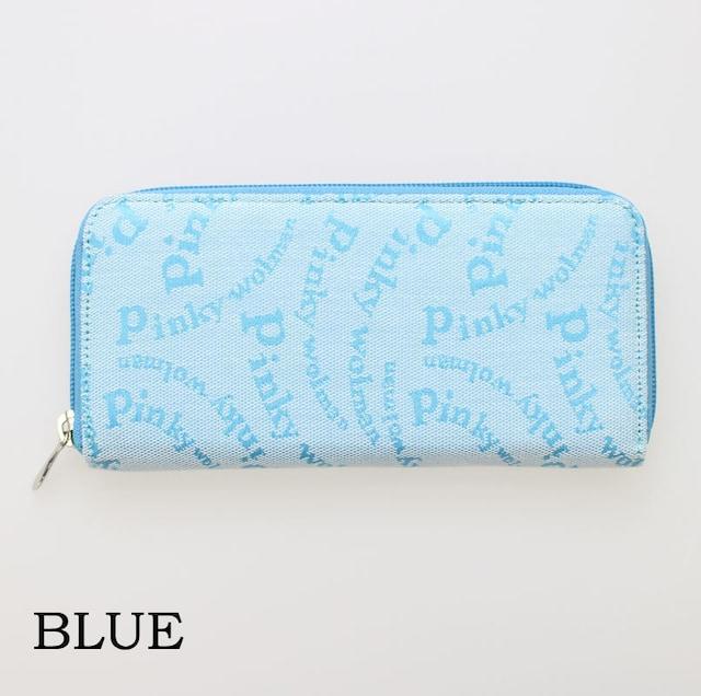 Pinky wolman(ピンキーウォルマン)ラウンドファスナー長財布 84041 ブルー  < 女性ファッションの