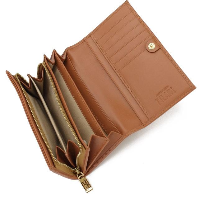 PRIMA CLASSE 財布 二つ折り 小銭入れ付 ベージュ系 < ブランドの