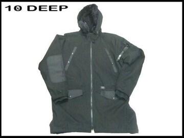新品 10 Deep ローングフード付きストリートウェアジャケット黒  L
