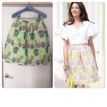 新品タグ付きchesty Jacquard Flower Skirt