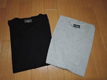 新品ナノユニバースnano・universeカットソーセットS黒灰Tシャツ