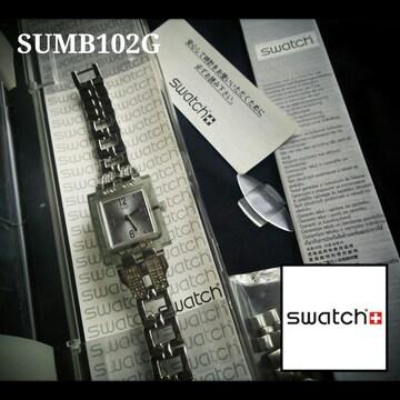 レア!SWATCH スウォッチ 2006年 SUBM102G スケルトン ストーン 時計 付属品完備