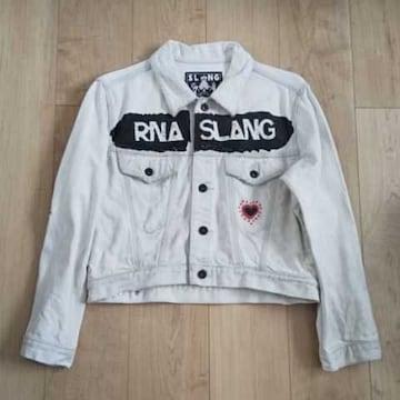 RNA ダメージ刺繍デニムジャケット M