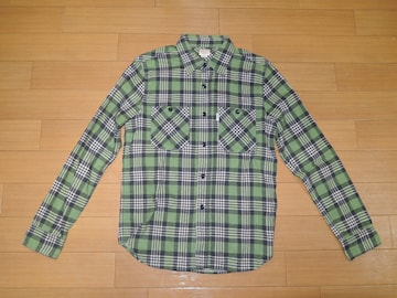 COOTIE クーティー チェックシャツ S 緑系 長袖